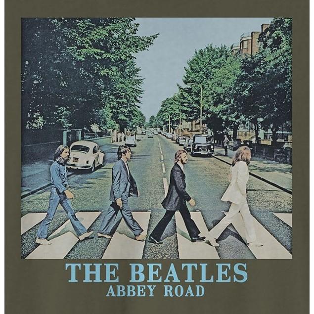 Hybrid Men's Beatles Abbey RoadGraphic T-Shirt Green Size Large