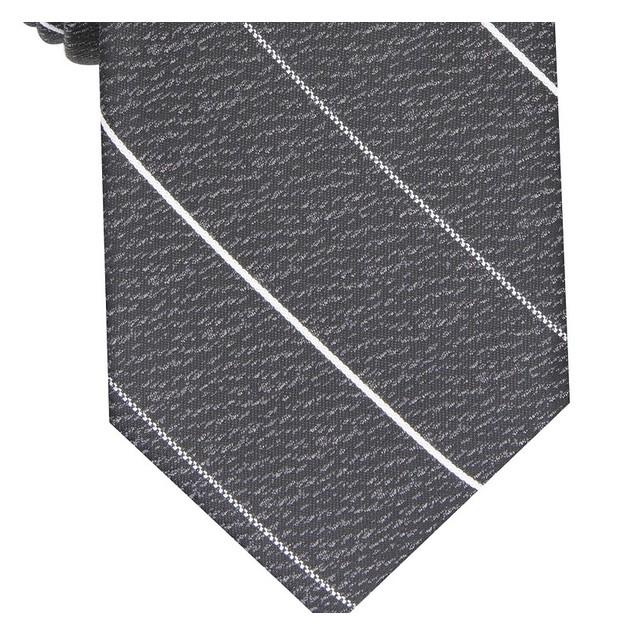 Alfani Men's Slim Stripe Tie Black Size Regular