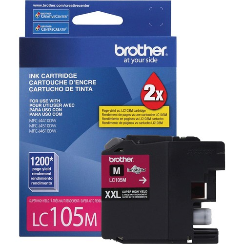 Brothers Brother Genuine LC105M Super High Yield XXL Magenta Ink Cartridges