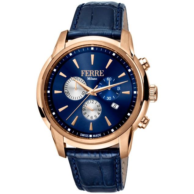 Ferre Milano Men's Classic Blue Dial Watch - FM1G131L0031