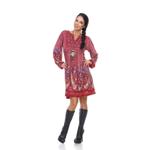 Apolline Embroidered Sweater Dress with Matching Necklace | 3 Colors