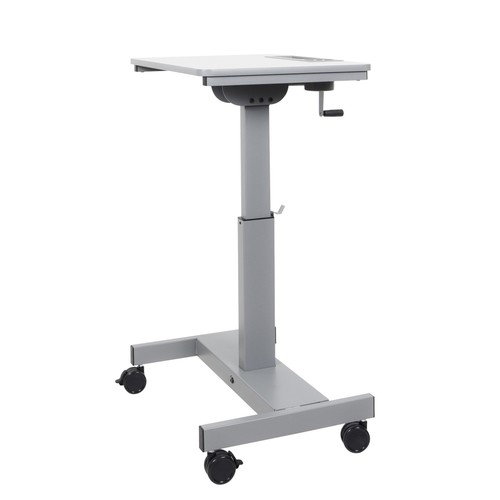 Offex Student Sit/Stand Desk with Height Adjustable Crank Handlre