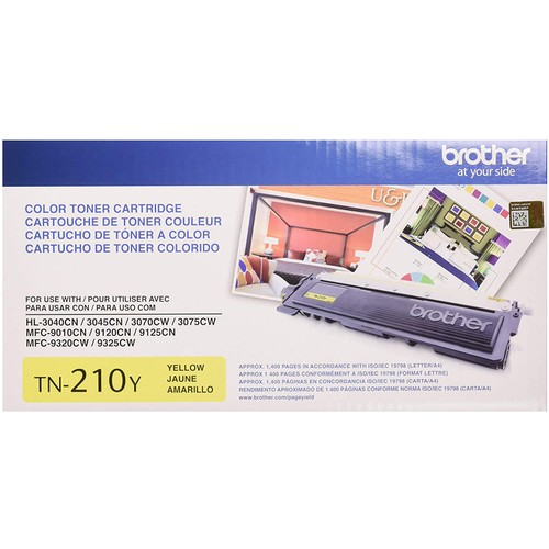 Brothers Brother Genuine TN210Y Color Laser Yellow Toner Cartridge