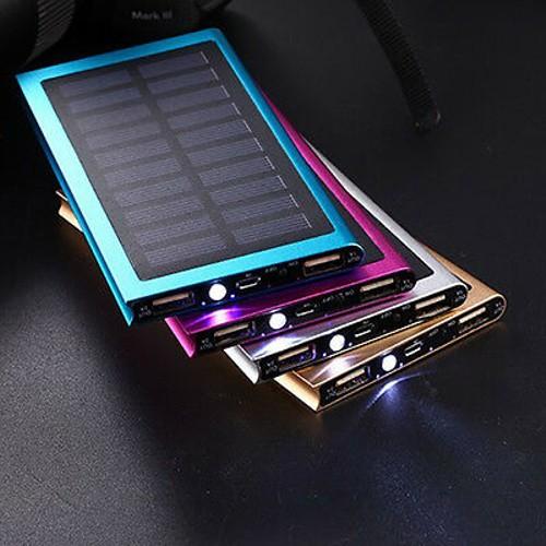 New Portable 100000mAh 2 USB Solar Battery Charger Solar Power Bank Fo