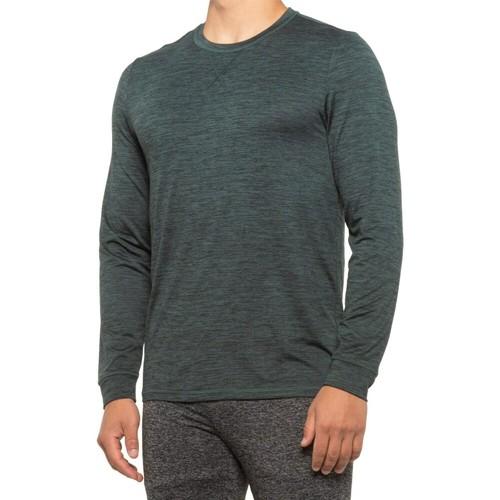 32 Degrees Men's Ultra Lux Long-Sleeve Sleep T-Shirt Green Size Large