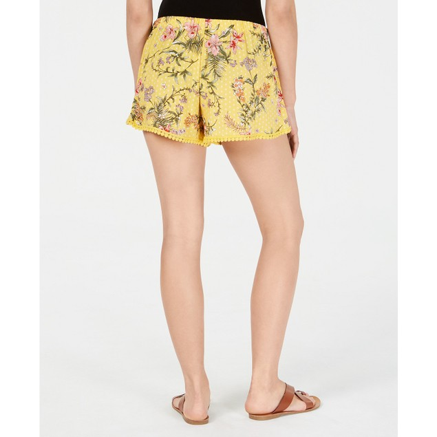 Be Bop Juniors Wrapped Pom Pom Shorts Yellow Size Large