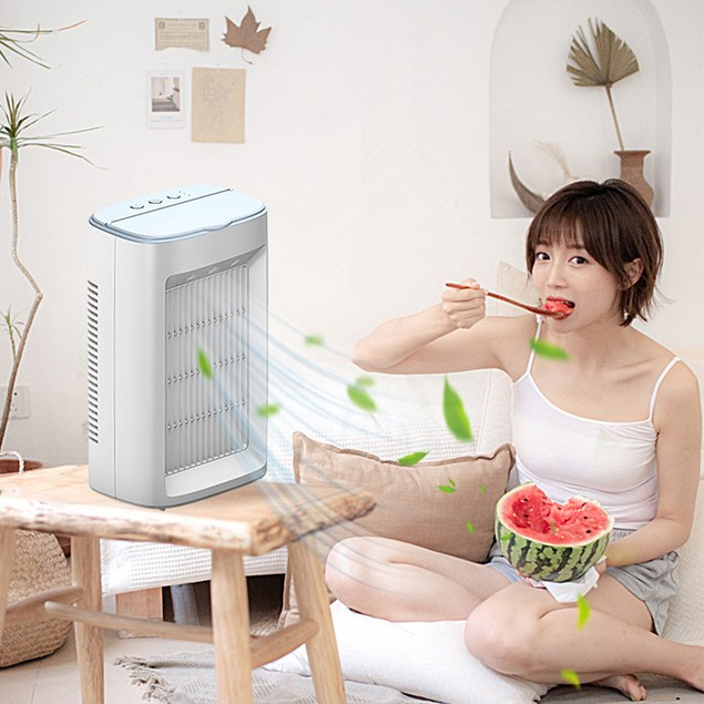 Spray Humidification Water Cooling Fan USB Air Cooler Small Air Conditioner