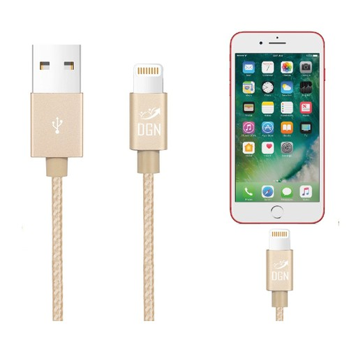 Apple iPhone 2-in-1 Lightning USB Data Sync Braided Charger Cable