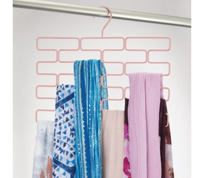 mDesign Hanging Metal Closet Scarf Holder - 18 Section Was: $19.99 Now: $13.99.