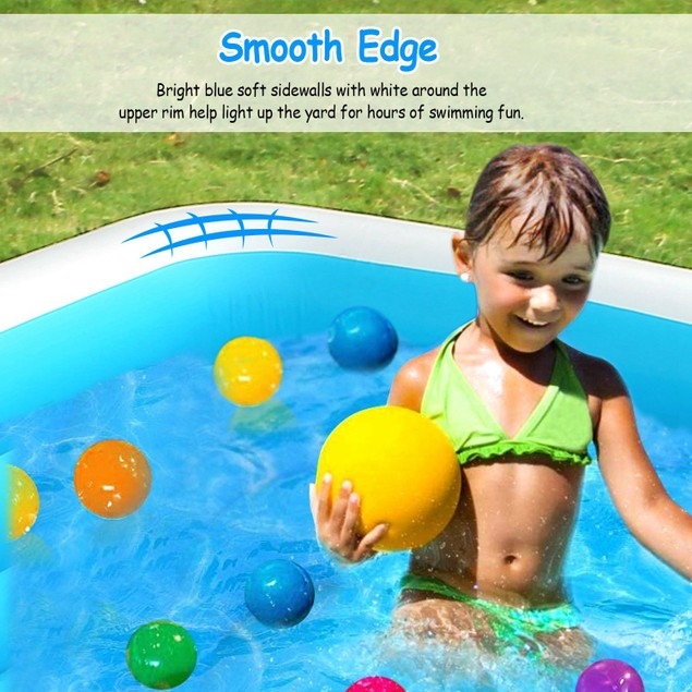 103*69*24in Inflatable Swimming Pools Family Swim Play Center Pool