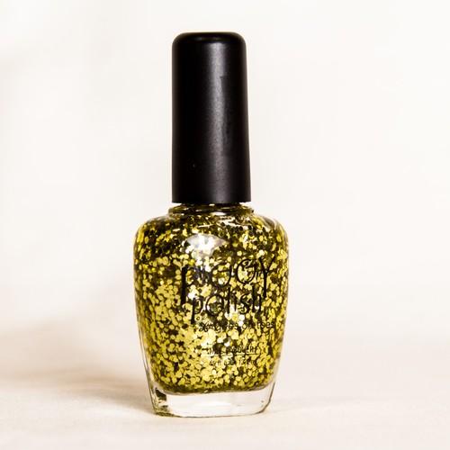 Piggy Polish Oh My Gold-ness, Big Flakes of Gold Glitter