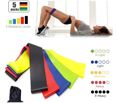 Workout Resistance Bands- Set of 5 Was: $39.99 Now: $12.99.