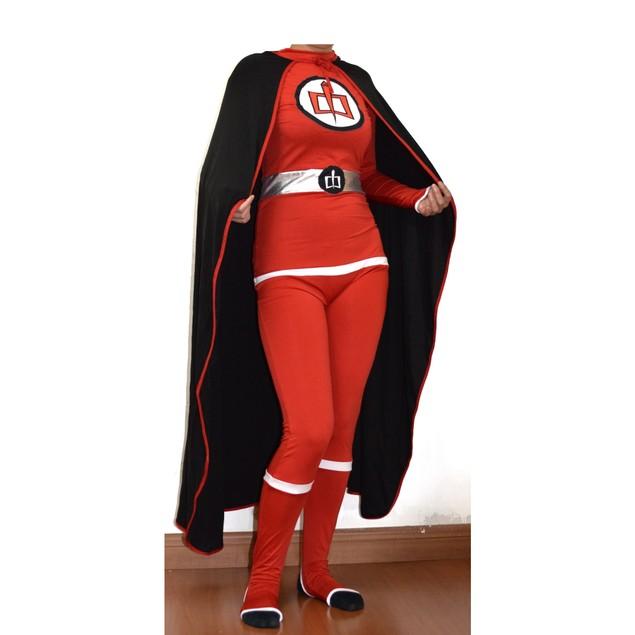Greatest American Hero Adult Costume And Cape Body Suit Spandex Superhero