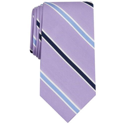 Club Room Men's Stripe Tie  Purple Size Regular