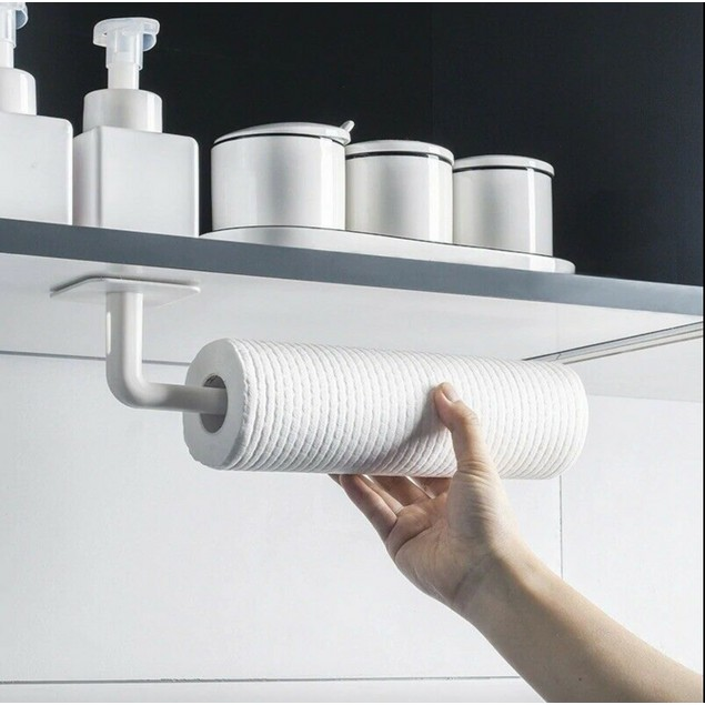 Self-Adhesive Paper Towel Roll Rack