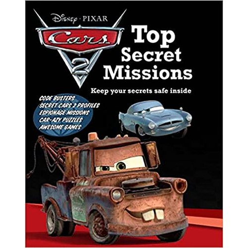 Disney Cars 2 Top Secret Missions Hardcover