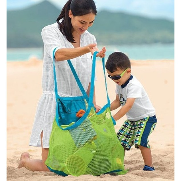 Easy to Store Oversized Beach/Grocery Mesh Bag