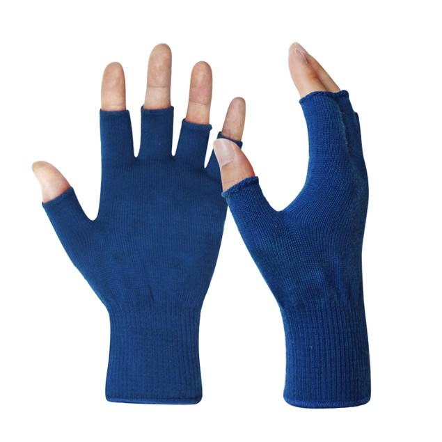 EvridWear Merino Wool String Knit Liner Fingerless Gloves- 4 Colors