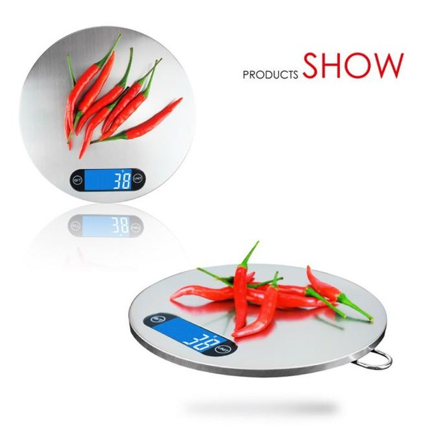The Portable Electronic LCD Electronic Kitchen Scales Precision