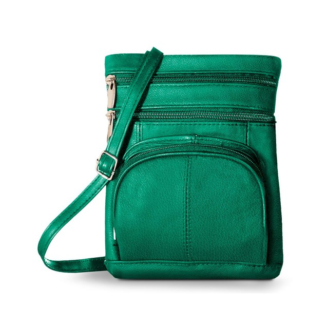 Soft Leather Crossbody Bag with Wallet  - 8 Colors