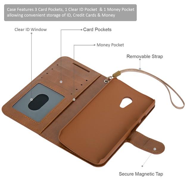 Navor Folio Wallet Case for Motorola Moto G [2nd Gen]