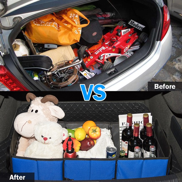 GoPlus Collapsible Car Trunk Organizer