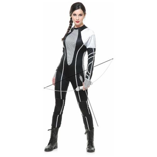 Katniss Everdeen Womens Costume Jumpsuit Hunter 2 Catching Fire Movie Adult