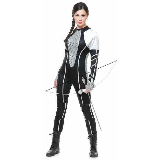 Katniss Everdeen Womens Costume Jumpsuit Hunter 2 Catching Fire Movie Adult