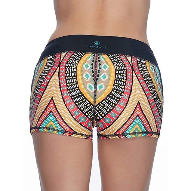Body Glove Women's Culture Rider Shorts Black Swimsuit Bottoms SZ M