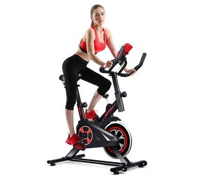 Costway Indoor Cycling Exercise Bike with LCD Display Was: $399.99 Now: $184.99.