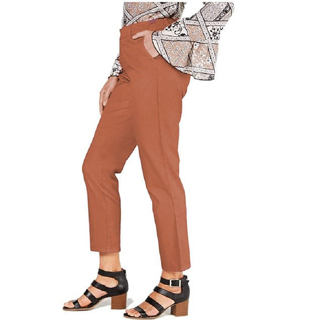 Style & Co Women's Chino Pants Orange Size 18
