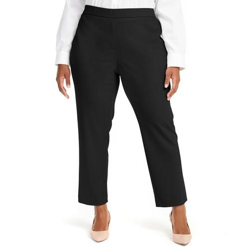 Alfani Women's Plus Pull-On Dress Pants Black Size 0X