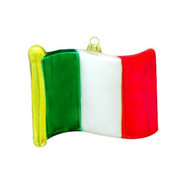 Italy Flag Glass Ornament Italian Christmas Tree Hanging Green White Red