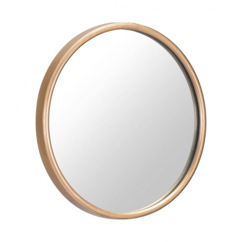 Offex Modern Round Home Decorative Small Ogee Mirror - Gold