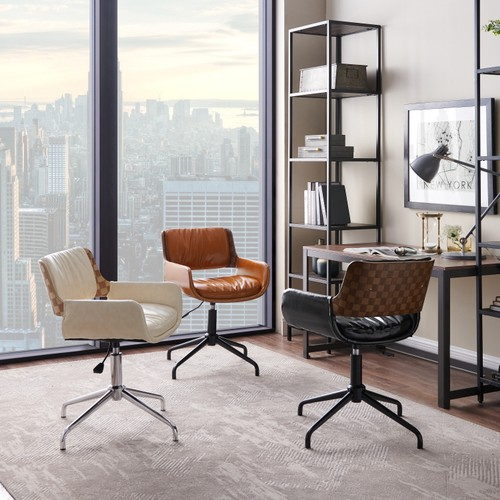 Art Leon Height-adjustable Swivel Accent Home Office Desk Chair