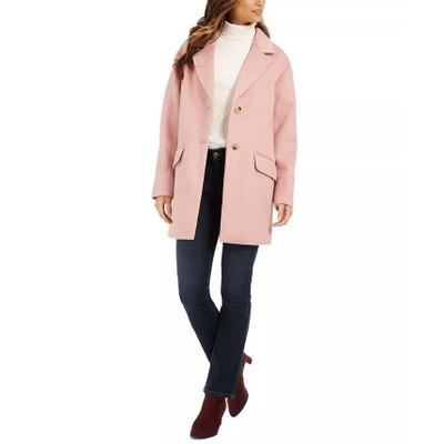Charter Club Women's Notched-Collar Coat Pink Size Medium