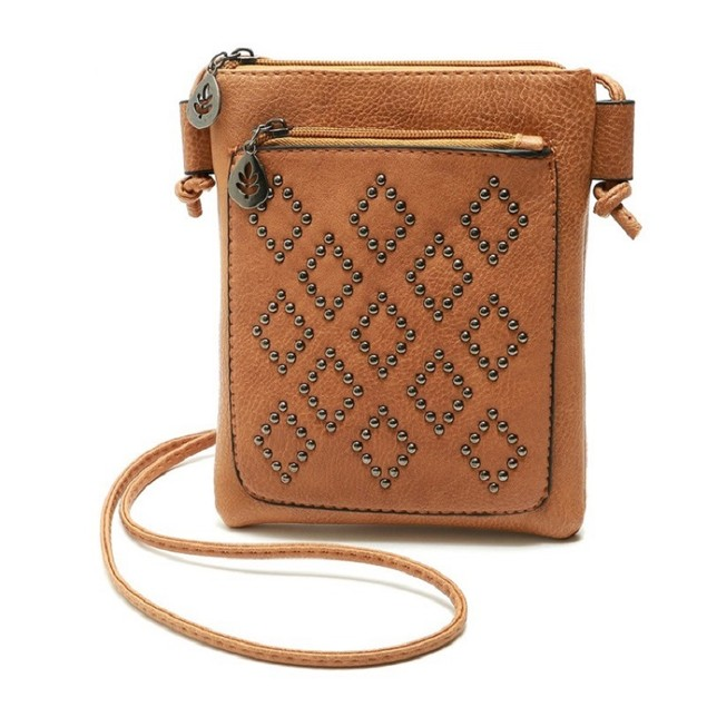 Simple Wicker Phone Bag Women
