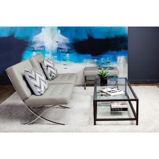 Studio Designs Atrium Ottoman Bonded Leather
