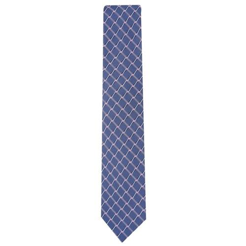 Perry Ellis Men's Brodie Grid Tie Navy One Size