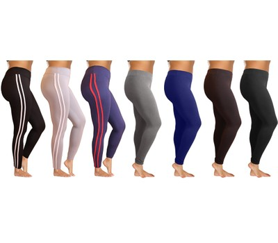 3-Pack: Women's High Waisted Ultra-Soft Leggings with Elasticized Waistband Was: $99.99 Now: $22.99.