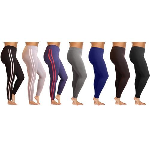 3-Pack: Women's High Waisted Ultra-Soft Leggings W/Elasticized Waistband