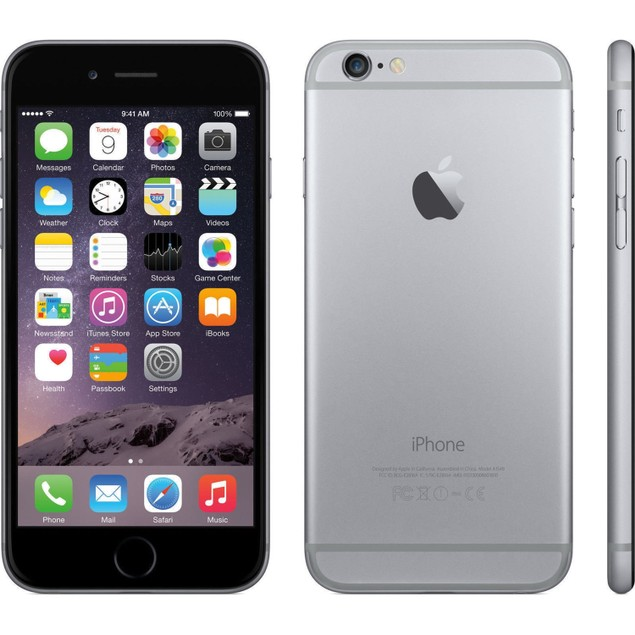 iPhone 6 - Unlocked - 128GB - Gray - Good Condition! (Scratch and Dent)