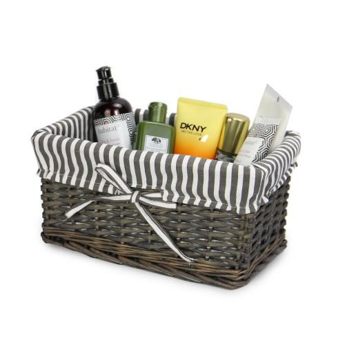 MandW Grey Wicker Baskets Small