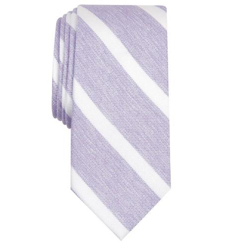 Bar III Men's Lovett Stripe Skinny Tie Purple Size Regular