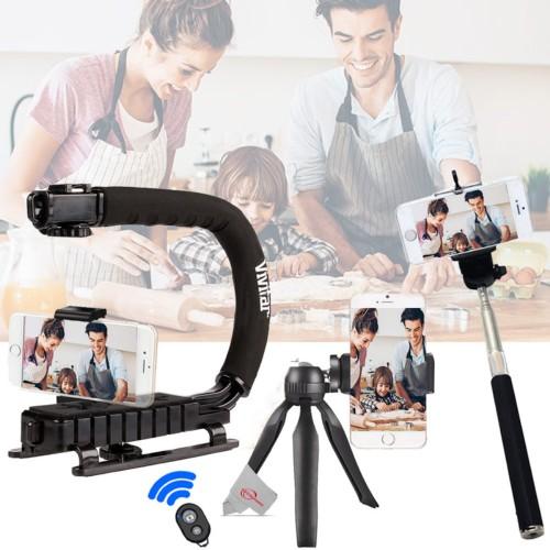 Vivitar Action Sports Grip + Table Tripod + Selfie Stick