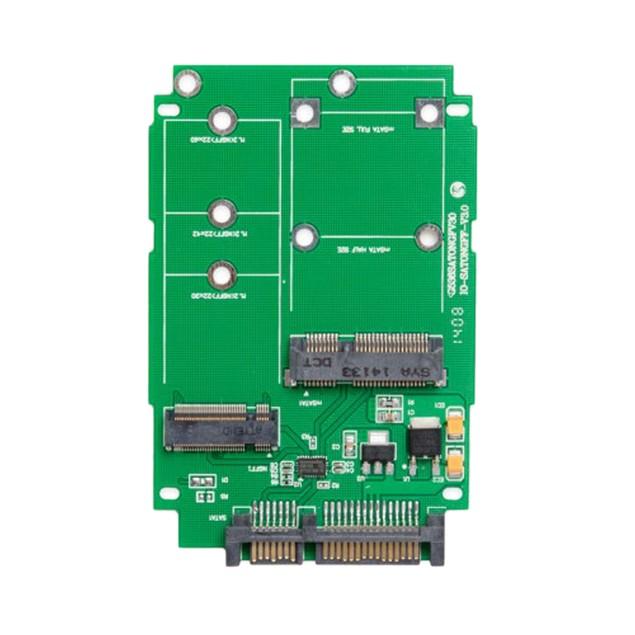 M.2 (NGFF) & mSATA SSD to SATA III Adapter