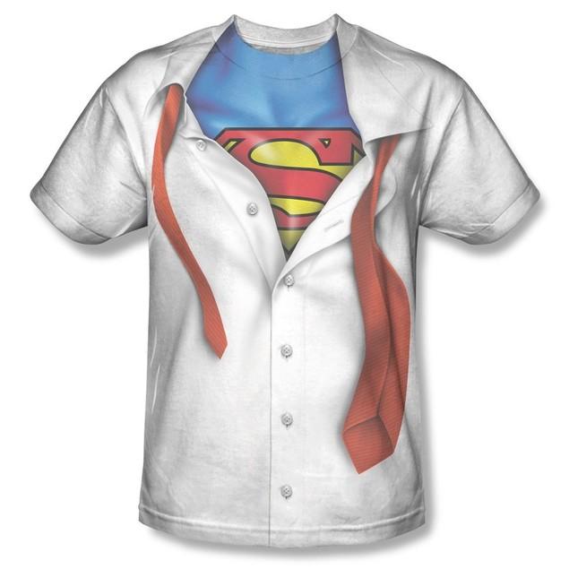 Clark Kent Superman T-Shirt Costume Transform Tie Super Hero Adult