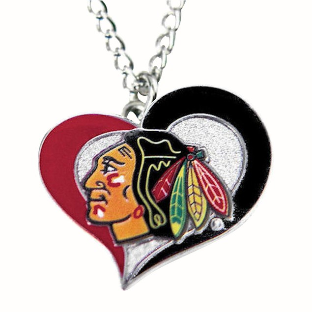 NHL Chicago Blackhawks Swirl Heart Necklace