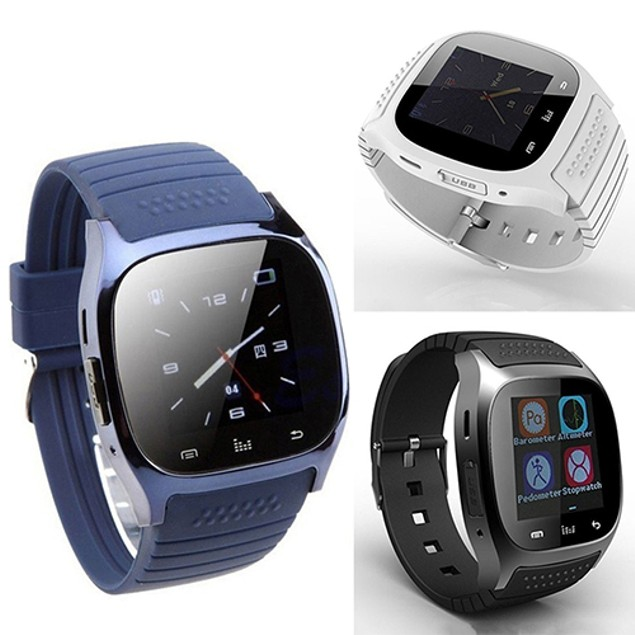 Wrist Watch Pedometer for iOS Android iPhone Samsung HTC