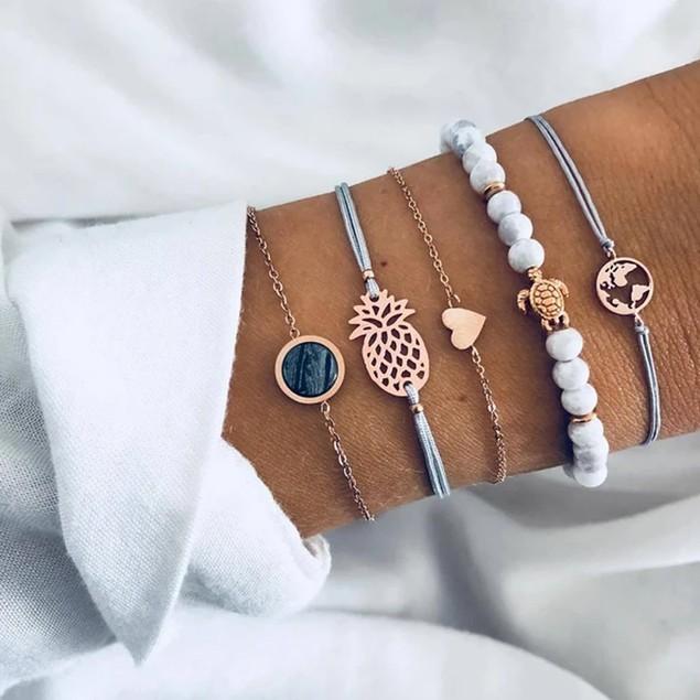 Stylish Around The World Bracelets